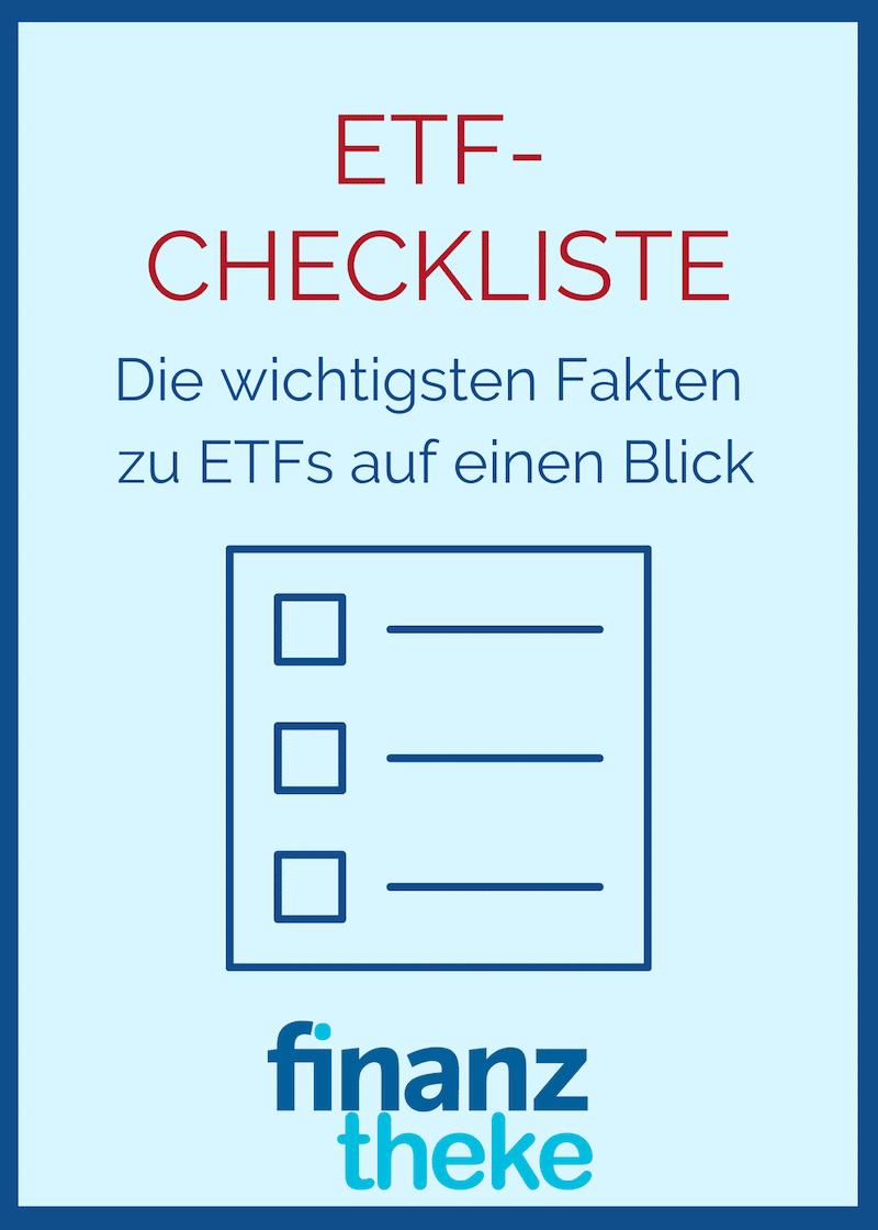 Deine Checkliste mit den wichtigsten Fakten zu ETFs