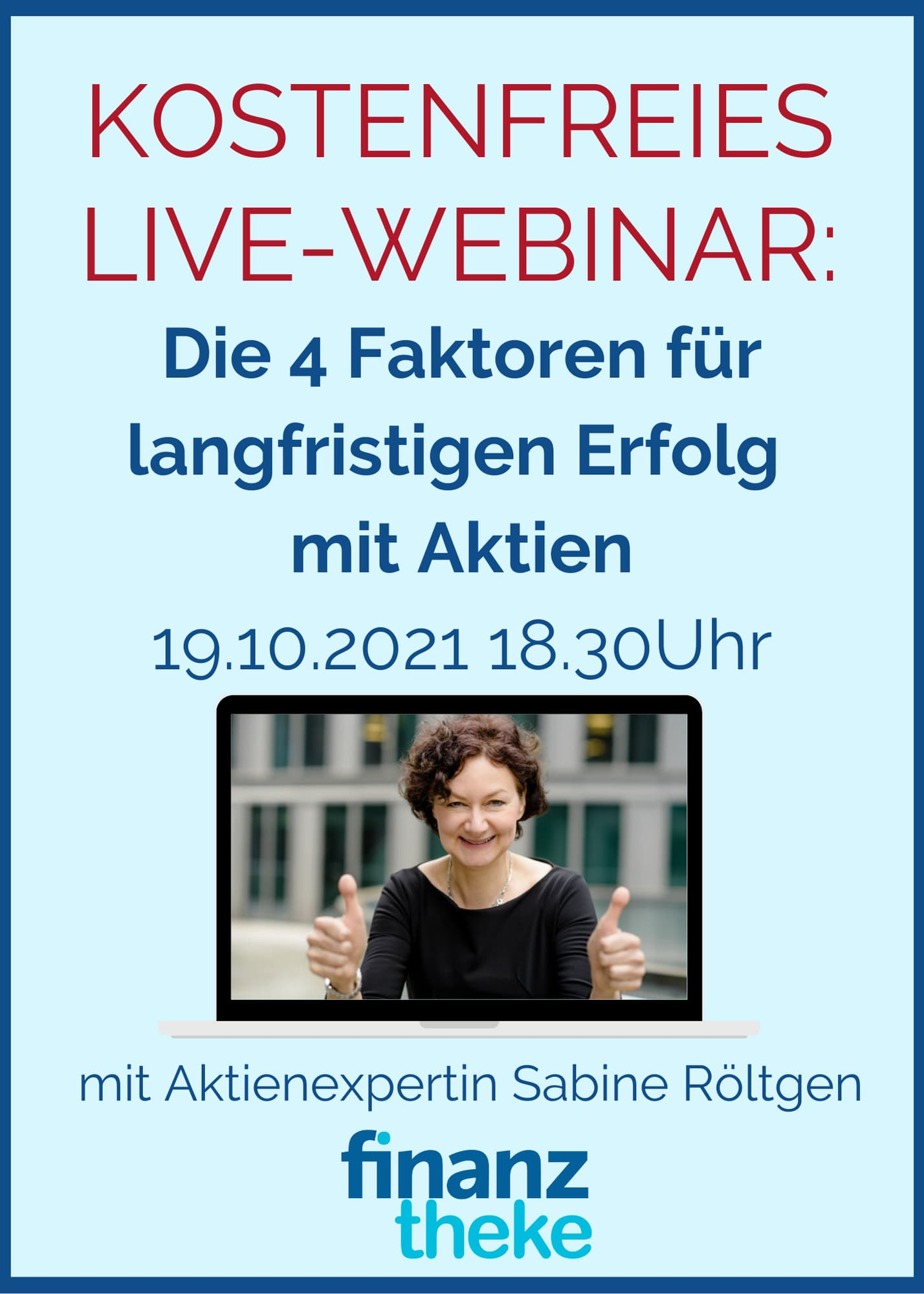 Kostenfreies live-Webinar zum Start mit Aktien